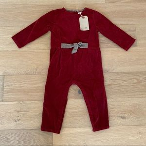 Zara baby jumpsuit red size 2/3 years